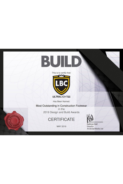 The BUILD Award Certificate